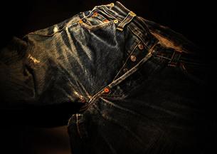 ヴィンテージのジーンズの写真素材 [FYI00153505]