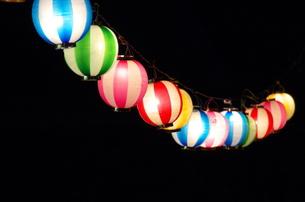 夏祭りのちょうちんの写真素材 [FYI00153561]