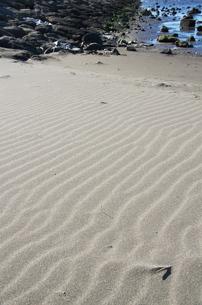 海辺のしましま砂浜の写真素材 [FYI00153568]