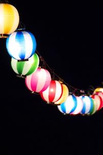 夏祭りちょうちんの写真素材 [FYI00153573]