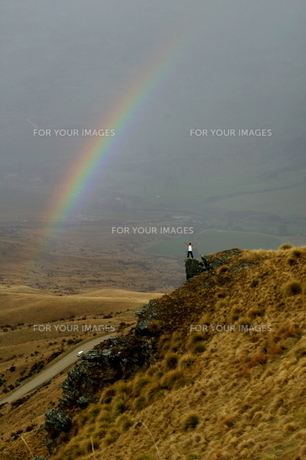広大な虹の写真素材 [FYI00154058]