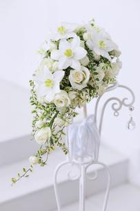 白い花のブーケの写真素材 [FYI00154086]
