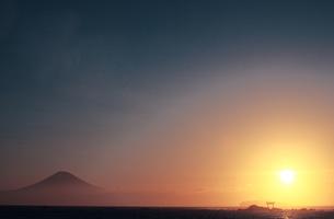 富士山の初日の出の写真素材 [FYI00154130]