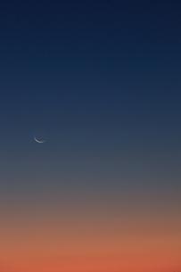 日没のグラデーションの写真素材 [FYI00154133]