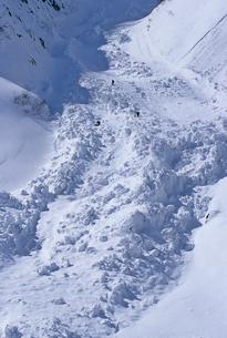 大規模な雪崩の写真素材 [FYI00154138]