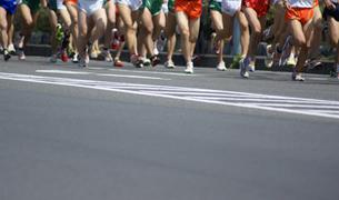 マラソン大会の写真素材 [FYI00154224]