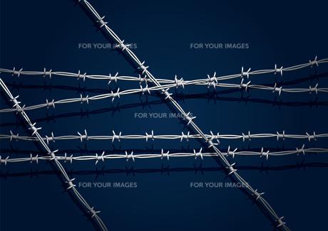有刺鉄線の写真素材 [FYI00154303]