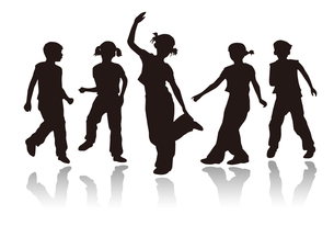 Boys and girls dancingの写真素材 [FYI00154378]