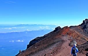 富士登山 お鉢巡り の写真素材 [FYI00156165]
