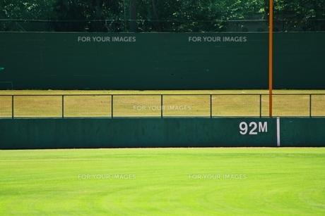 野球場 外野 芝生がまぶしいの写真素材 [FYI00156197]