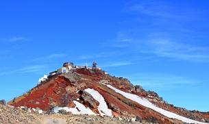 富士山 登山 あれが剣が峰の写真素材 [FYI00156218]