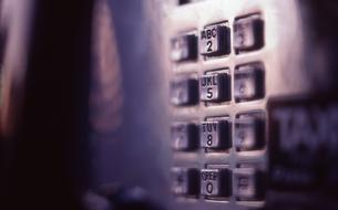 公衆電話のボタンの写真素材 [FYI00156393]