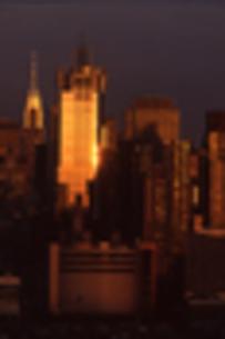 マンハッタンの夕日の写真素材 [FYI00156411]