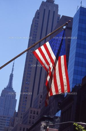 五番街の星条旗の写真素材 [FYI00156434]