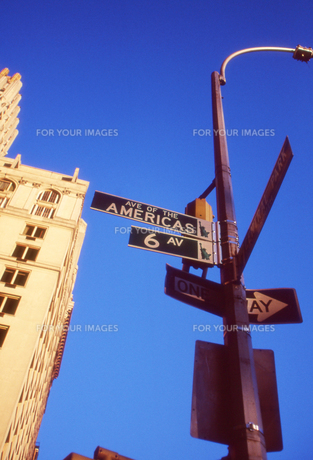 ニューヨークの標識の素材 [FYI00156437]