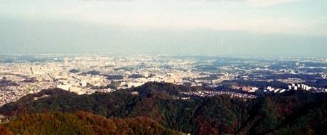 高尾山展望台よりの写真素材 [FYI00156591]