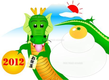 2012年1月の干支イメージの写真素材 [FYI00157251]