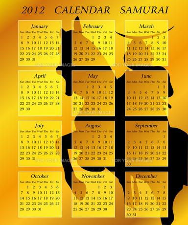 2012年サムライカレンダーの写真素材 [FYI00157276]