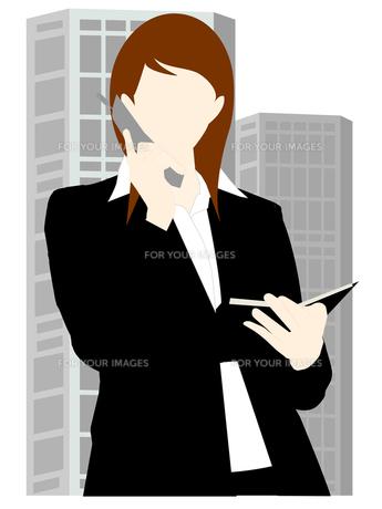 携帯電話をする女性の写真素材 [FYI00157293]
