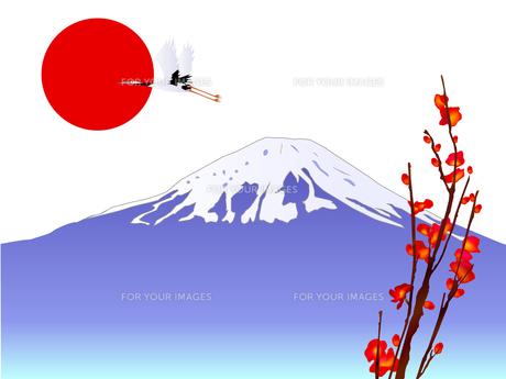 富士山と初日の出の素材 [FYI00157482]