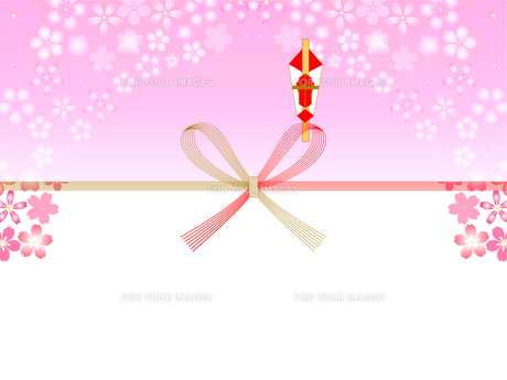 桜の熨斗紙の写真素材 [FYI00157488]