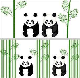 パンダと笹の写真素材 [FYI00157529]