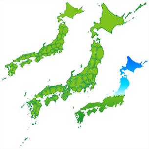 日本地図の写真素材 [FYI00157673]