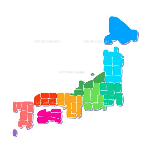 日本地図の写真素材 [FYI00157916]