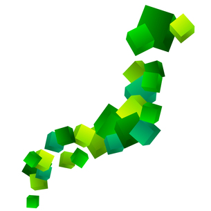 日本地図の素材 [FYI00159324]