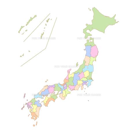 日本地図の写真素材 [FYI00161483]