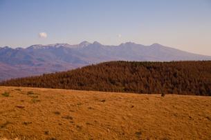 夕焼けに染まる山の写真素材 [FYI00163843]