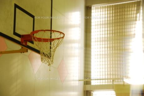 放課後のバスケットゴールの写真素材 [FYI00163943]