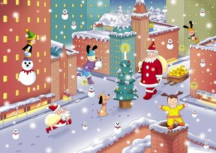 クリスマスの街の写真素材 [FYI00164178]