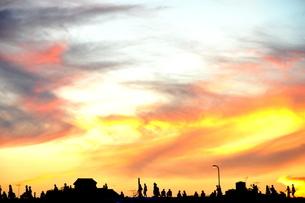 夕暮れの移動の写真素材 [FYI00164238]