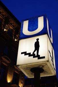 地下鉄の入り口の写真素材 [FYI00164244]