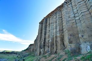玄武岩の崖の写真素材 [FYI00164301]