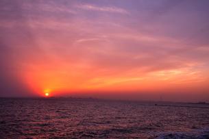 ある日の夕焼けの写真素材 [FYI00164456]
