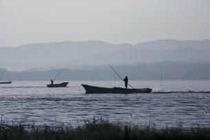シジミ漁の素材 [FYI00165004]