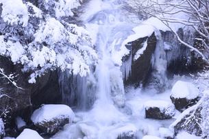 栃木県・奥日光竜頭の滝の雪景色の写真素材 [FYI00166065]