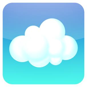 雲のアイコンの写真素材 [FYI00166226]