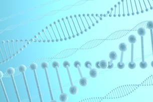 DNAと青い光の写真素材 [FYI00166231]