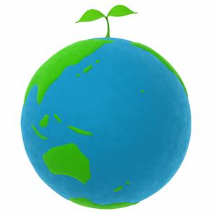 地球と植物のエコメージの写真素材 [FYI00166234]