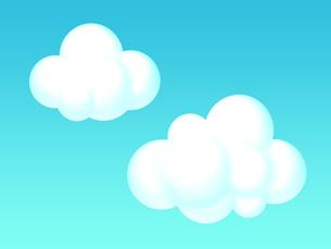 雲のイラストの写真素材 [FYI00166235]
