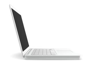 白いラップトップコンピュータの写真素材 [FYI00166238]