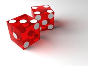 赤いカジノダイスの写真素材 [FYI00166239]