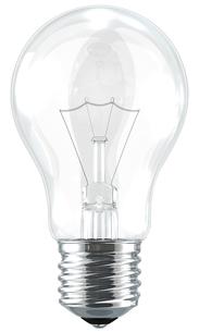 白い背景と電球の写真素材 [FYI00166241]