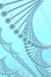 DNAと青い光の写真素材 [FYI00166243]