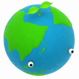 地球と植物のエコメージの写真素材 [FYI00166246]