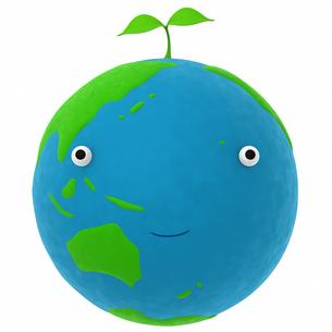 地球と植物のエコメージの写真素材 [FYI00166247]