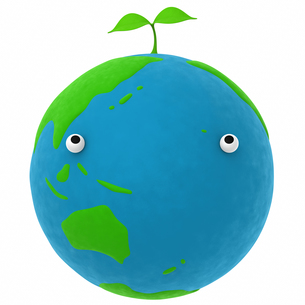 地球と植物のエコメージの写真素材 [FYI00166250]